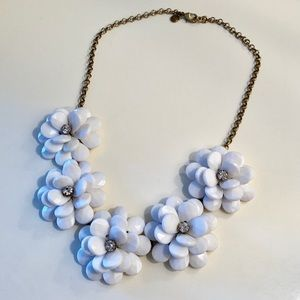 05dd33902c142f J. Crew Factory Jewelry | J Crew Floral Path Neon Statement Necklace ...